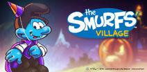 Halloween Party Smurf Banner SV 2019