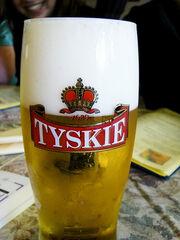 Tyskie-szklanaka