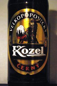 Velkopopovický Kozel černý - naklejka