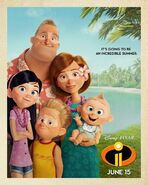 Incredibles 2 Tanline Poster