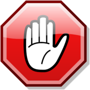 Stop hand red
