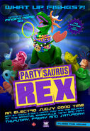 Partysaurus plakat