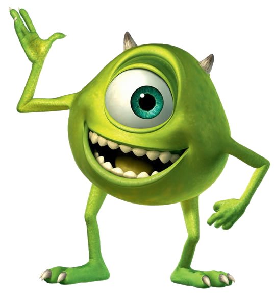 Mike Wazowski from the Movie Monster Inc.