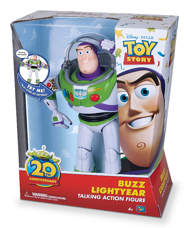 buzz lightyear toy story 20th anniversary thinkway toys line