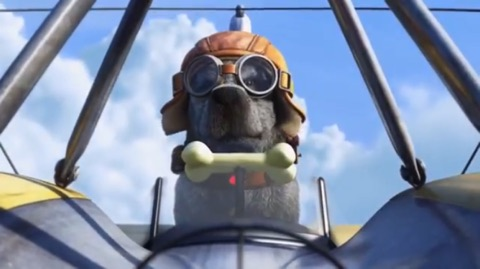 Image result for up dogs flying pixar