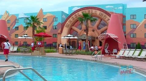Cars wing and pool at Disney's Art of Animation Resort in Walt Disney World