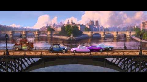 """CARS 2 - Extrait Paris (avec le titre de Bénabar """"Mon Coeur Fait Vroum"""") - VF"""