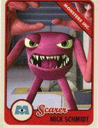 Schmidt's scare card (front)