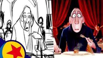Anton Ego's Ratatouille Memory Pixar Side-by-Side