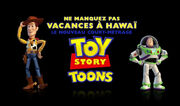 Toy Story Toons logo woody buzz