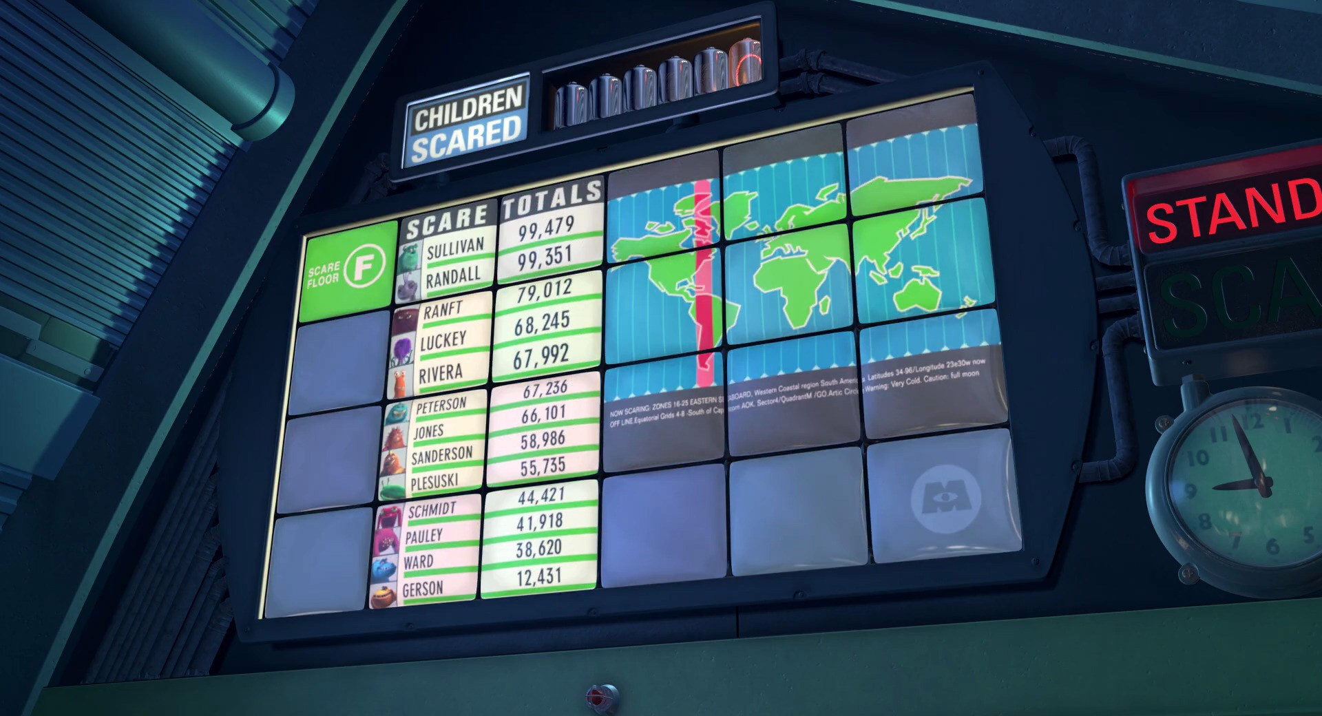 Scarer's Leaderboard | Pixar Wiki | FANDOM powered by Wikia