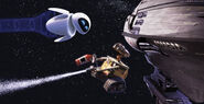 Eve and Wall-E in Space