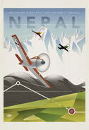 Planes vintage poster nepal