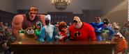 Superheroes returned to society again