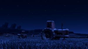 Tractor pasture