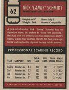 Schmidt's scare card (rear)