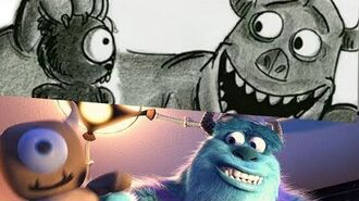 Monsters, Inc. Pixar Side By Side