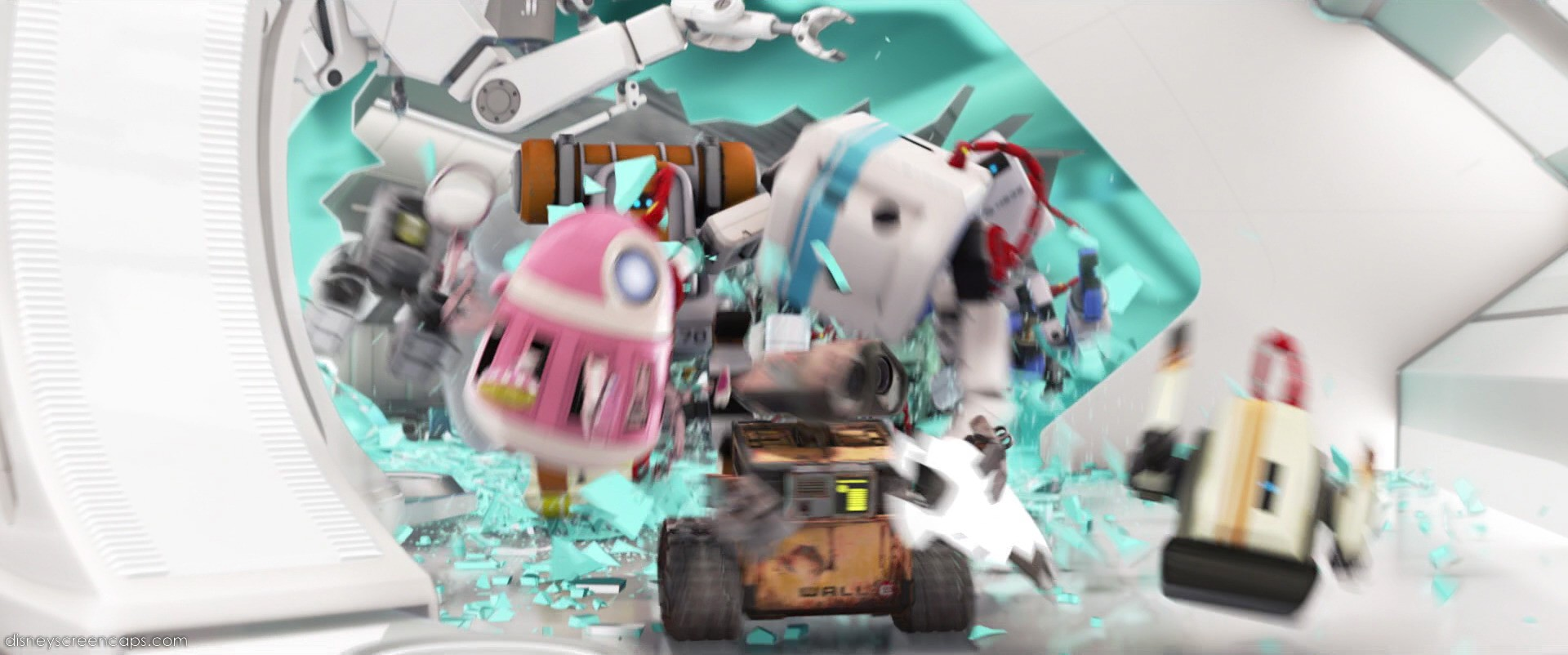 Image - The robots cheer for WALL-E.jpg | Pixar Wiki | FANDOM powered by Wikia