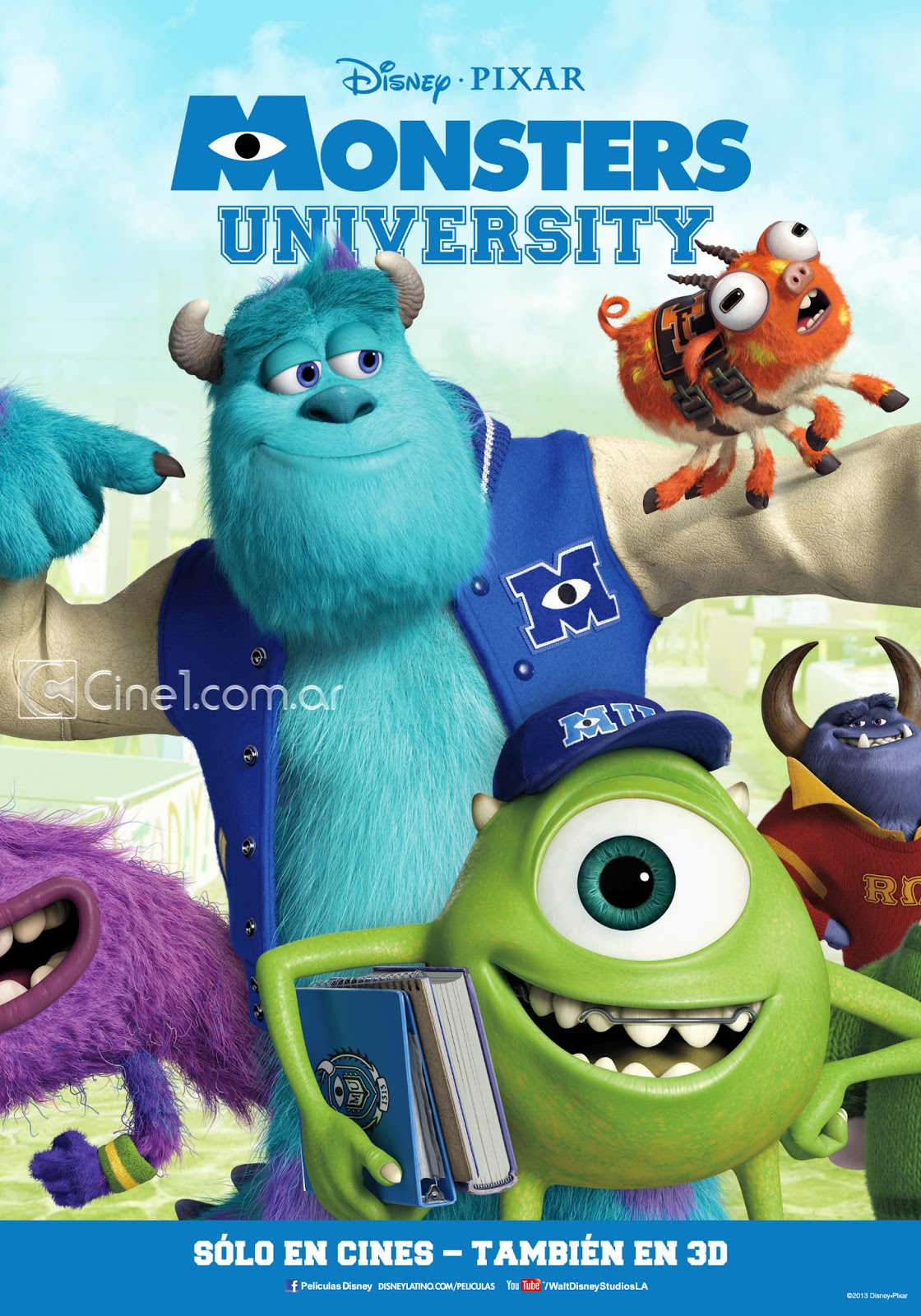 Image - Monsters University Poster Ex b Cine 1.jpg | Pixar ...