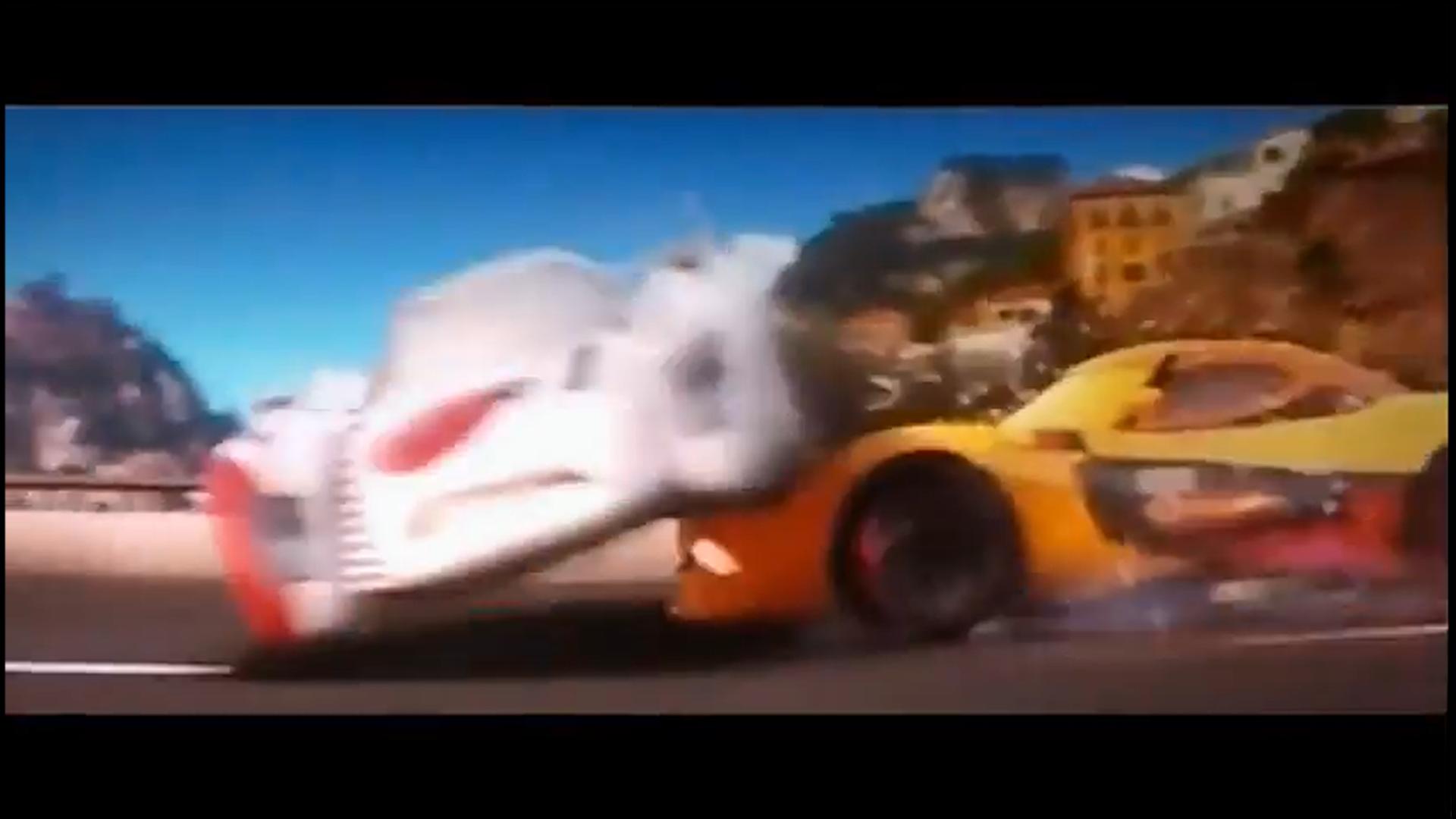 Image miguel camino crashes into shu pixar wiki fandom powered by wikia - Coloriage cars 2 miguel camino ...