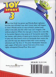 Toy story 3 back cover