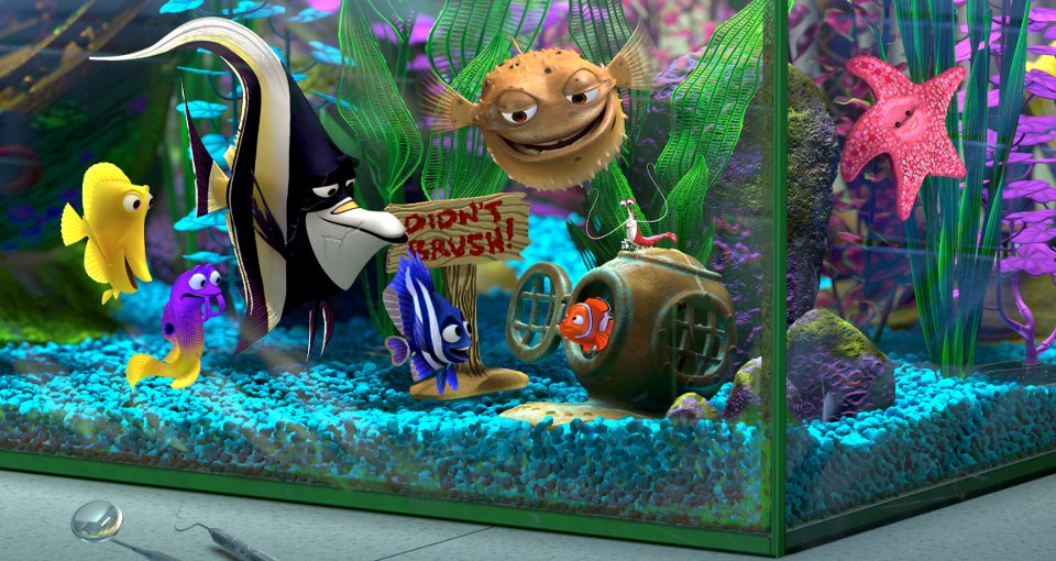 Tank gang pixar wiki fandom powered by wikia for Finding dory fish tank