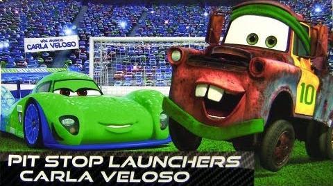 Pit Stop Launchers Carla Veloso Brazilian Racer CARS 2 die-cast Launcher