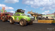 Pixar Post - Radiator Springs 500 and a half - Green Jeep