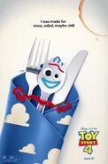 Toy Story 4 Forky Napkin Poster