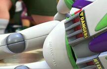 Buzz's close up pixar label