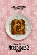 Incredibles 2 Toast Poster