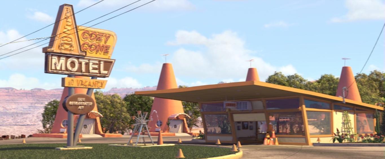 Cozy Cone Motel Pixar Wiki Fandom Powered By Wikia