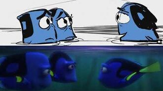 Cuddle Party with Otters from Finding Dory Pixar Side-by-Side