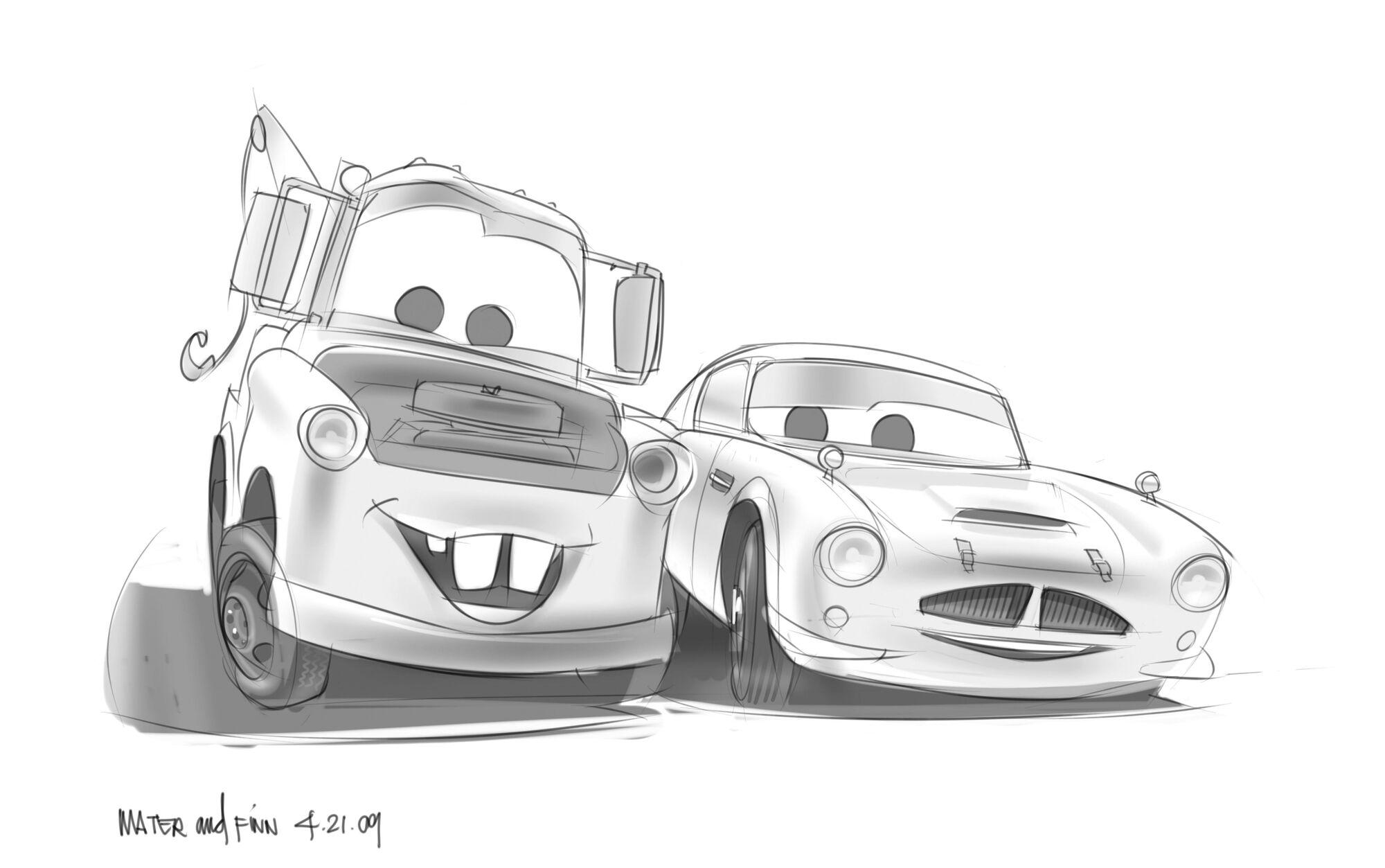 Cars Kleurplaat Finn Image Cars 2 Conceptart Finn Mcmissile 4 Jpg Pixar