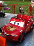 Lightning McQueen on Race-O-Rama ride
