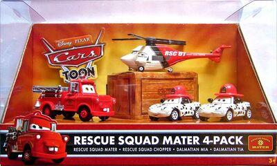 Rescue squad chopper cars toon pack de 4