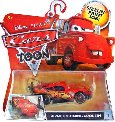 Burnt lightning mcqueen cars toon single