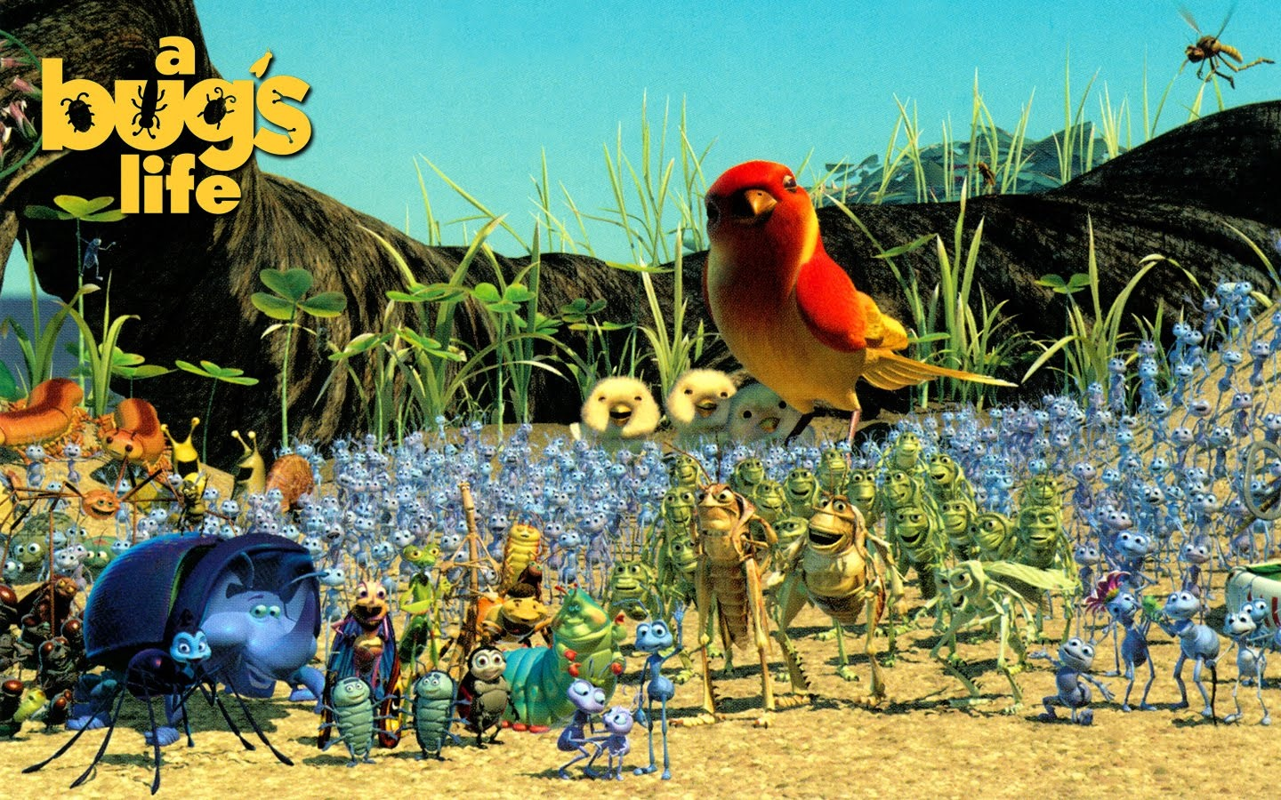 It's just a graphic of Persnickety A Bug's Life Poster