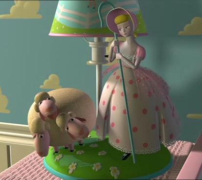 Bo Peep And Her Sheep Are Adornments Of Mollyu0027s Bedside Lamp. She Is  Inspired By Character Of Classic Childrenu0027s Nursery Rhyme Little ...