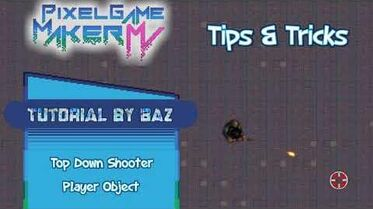 Let's Make- Top Down Shooter Player and Crosshair - Pixel Game Maker MV