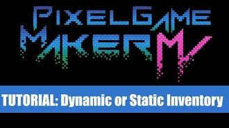 Dynamic or Static Inventory System - Pixel Game Maker MV (Downloadable)