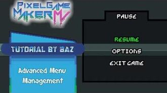 Menus and Scenes - Advanced Menu Management - Pixel Game Maker MV