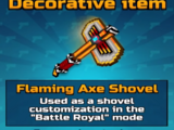 Flaming Axe Shovel
