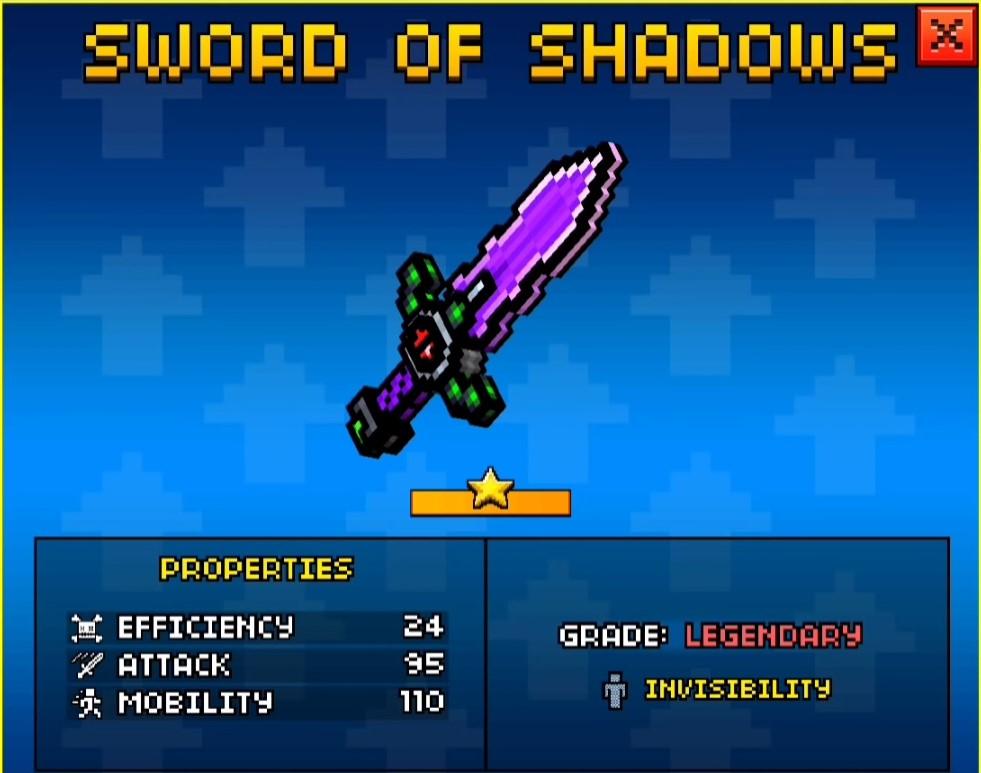 Sword Of Shadows Up2 Pixel Gun Wiki Fandom Powered By Wikia