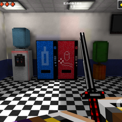 The vending machines in the Blue Block lobby.