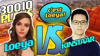 LOEYA vs KINSTAAR- EPIC 1v1 and DUO - LOEYA playing FORTNITE BATTLE ROYALE