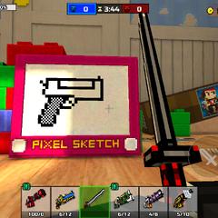 An <i>Etch a Sketch</i> toy.