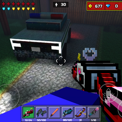The cop car that's at spawn.