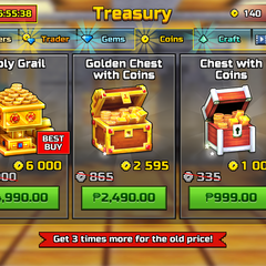 The coins shop in the 16.4.0 update.