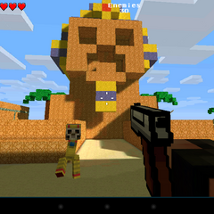 The Old Sphinx with a creeper face.